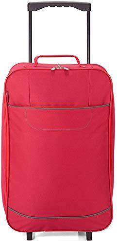 Maleta de Cabina Plegable, Equipaje de Mano, Especial Low Cost. BZ5374 (Rojo)