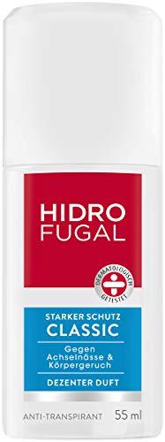 Hidrofugal Classic Zerstäuber, Anti-Transpirant mit dezentem Duft und antibakteriellem Schutz, hochwirksamer Deo Zerstäuber schützt gegen Schweiß, 6er-Pack (6 x 55 ml)