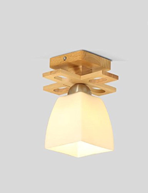 LIXIONG Holz einfach Deckenleuchten Wohnzimmer Eingang Gang Deckenleuchten Beleuchtung Innenbeleuchtung-Wirkungsgrad  A +++ (gre   20CM)