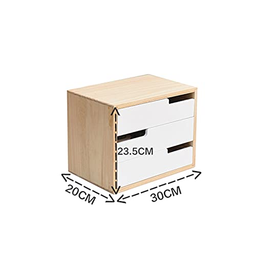 Monitor Stand Riser,Wooden Monitor Stand,Desk Storage Organizer with Drawer,Computer Monitor Stand for Home Office Computer-B 30x20x23.5cm(12x8x9inch)