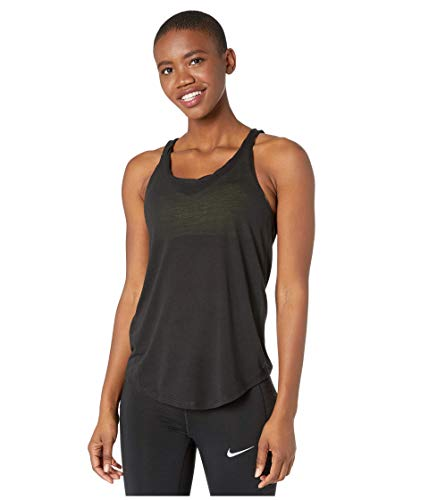 Nike Damen Yoga Twist Tanktop, Black/Dark Smoke Grey, M