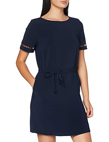 Vila Clothes Damen VILAIA S/S LACE Dress Kleid, Navy Blazer, 36