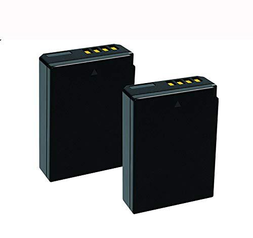 Yangers 2 baterías LP-E10 de 1850 mAh para Canon EOS 1100D, 1200D, 1300D, 1500D, 2000D, 3000D, 4000D, Rebel T3, T5, Rebel T6, Canon Kiss X50, X70