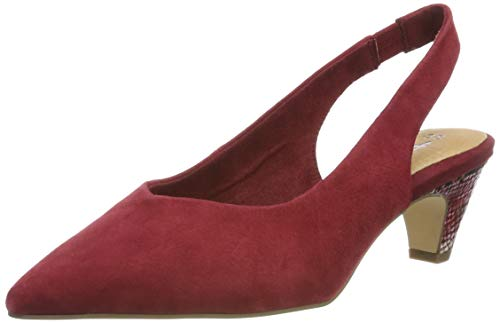 Tamaris Damen 1-1-29506-32 Slingback Pumps, Rot (Bordeaux 667), 37 EU