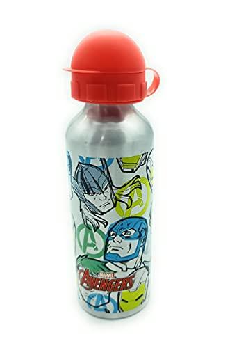 Botella agua niños Avengers 500ml ligera y práctica
