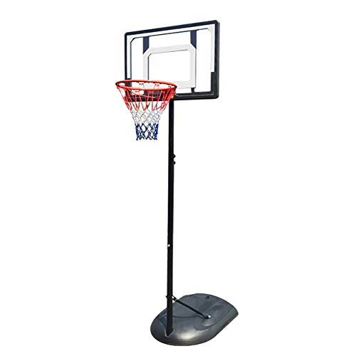 ERRU Basketballkorb Kinder-Basketball Stand In-Ground, Tragbare Mini-Basketballkorb-System für Innen/Außen, Höhenverstellbar (6,9-8,85 Ft)