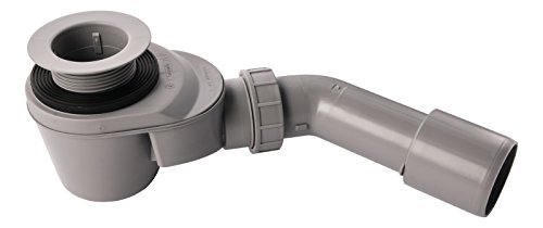 Hansgrohe 22008 8 Ablaufgarnitur Starolift Ablauf Ø 52 für flache Brausewannen, grau, 52 mm Ablaufloch