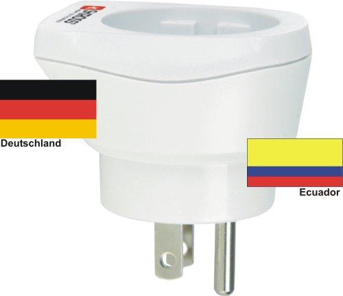 Alta calidad adaptador de viaje Diseño Alemania a Ecuador 220–230V schuko macho Conversión macho–conector Enchufe de Viaje Alemania–Ecuador