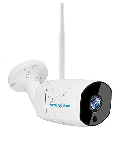 1080P Full HD Überwachungskamera Aussen, IP66 wasserdichte Sicherheitskamera WLAN IP Kamera mit LAN&WLAN Verbindung, Bewegungserkennung, Zwei-Wege-Audio,Fernzugriff,20M Nachtsichtfunktion