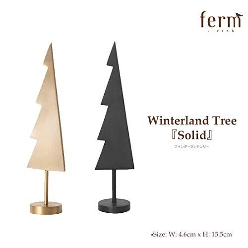 Ferm Living Weihnachtsbaum, Metall, Schwarz, 4,6x15,5cm