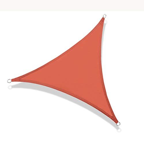 AWSAD Vela De Sombra, Red De Sombra Triangular, Revestimiento Impermeable De Material De Poliéster, Anillo De Tracción En Forma De D, para Jardín Al Aire Libre, 5 Colores, 3 Tamaños