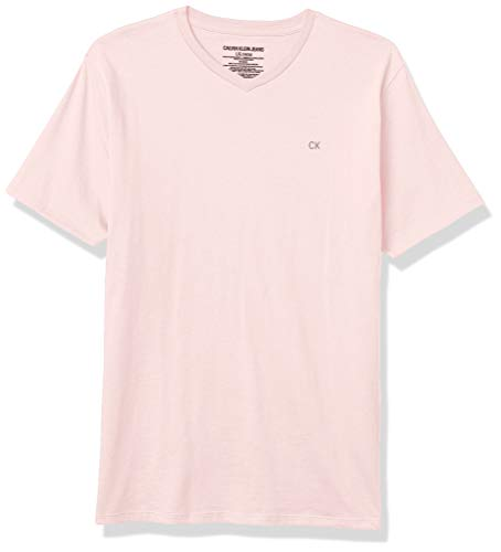 Calvin Klein Boys' Crew Neck Tee Shirt, Light Pink, Large (14/16)