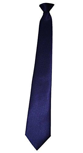 FLConseils - Cravate Sécurité À Clip (BLEU MOTIF CAVIAR)