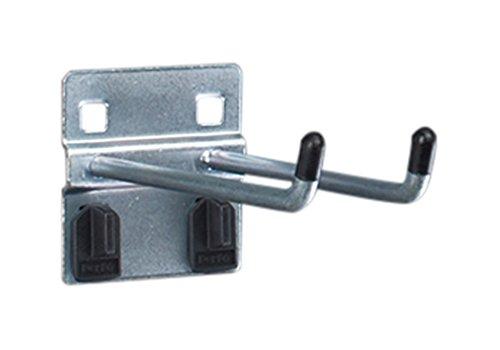 bott perfo Doppelhaken, 5 Stück mit Doppelaufnahme für perfo Lochplatten, Länge 100 mm, 14002064