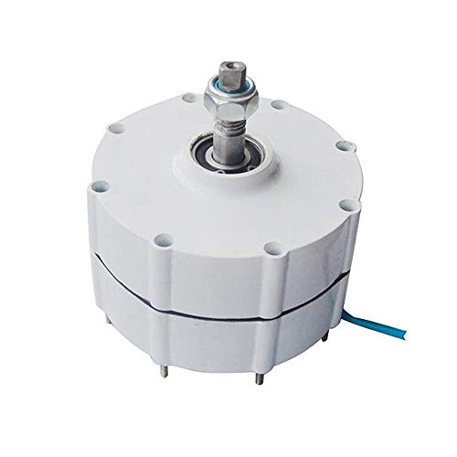 TOPQSC 600r/m 100W 12V Generador de Imán Permanente y Alternador para Aerogenerador Vertical u Horizontal de 100W Generador de Viento