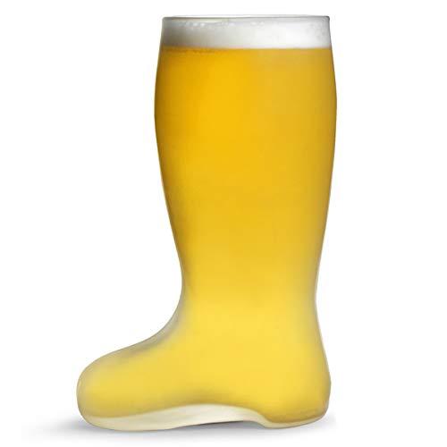 Para 1 pinta de cerveza cristal esmerilado - bota de cristal de estilo alemán zapatero para en cristal esmerilado