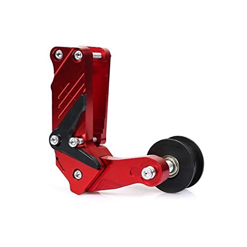 Motorrad kettenspanner Laser Universal Motorrad Einsteller Kettenspanner Roller-Skid Spanner Kettenführung Automatischer Regler Für Hon-da (Farbe : Rot)