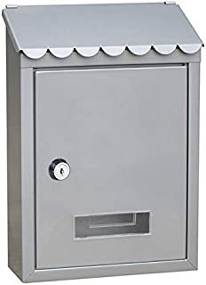 Outdoor Lockable Metal Mailboxes Wall Mounted Mail Box Bucket Post Letter Boxwith Key For Home Garden Decoration Garden Su...