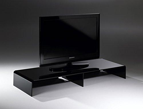 HOWE-Deko Console TV/TV-Rack en Acrylique Haute qualité, Noir, 120 x 40 cm, H 15 cm, l'épaisseur de l'acrylique 8 mm