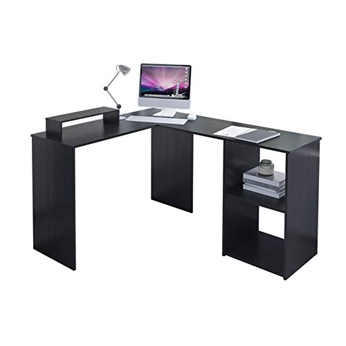 EUCO Computer Desk,Black Gaming Desk L-Shape Wood Corner Desk...