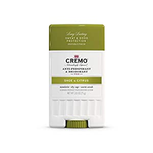 Cremo Sage & Citrus Anti-Perspirant & Deodorant, Long-Lasting Sweat & Odor Protection, Mandarin/Sage/Citrus, 2.65 Ounce… 2