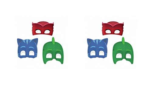 PJ Masks 0551, Pack 6 caretas, Multicolor para Fiestas y cumpleaños