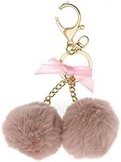 Momangel Creative Lovely Cute Fortune Cat Kitten Pendant Key Chain Ring Bag Handbag Hanging Ornament Gift White