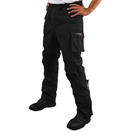 Roleff Racewear Motorradhose Textil, Schwarz, Größe XL