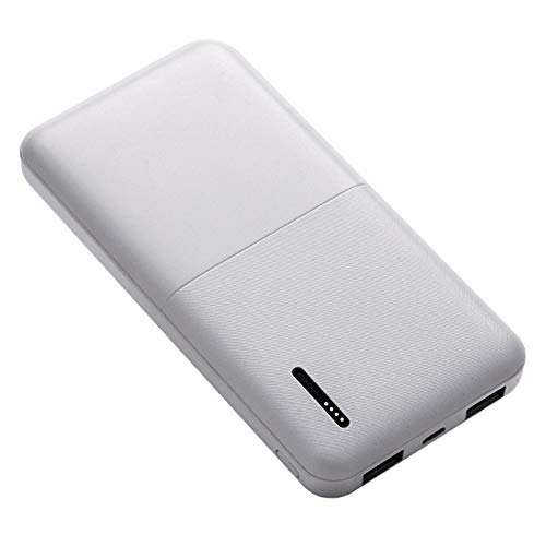 MUYEY Power Bank, 20000Mah Portable Charger, with 3 Output Ports, 4 LED Lights, Suitable for Smart Phones, Tablet Computers And Other Devices (Support Fast Charging),White