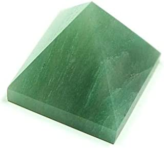 Green Jade Semi Precious Stone Pyramid For Reiki Healing, Vastu Correction and Positivity, 1.5-2.0 inches approx