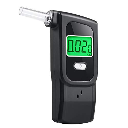 Breathalyzer, Professional Breath Alcohol Tester, Portable Digital Alcohol Tester Breathalyzer with 5 Mouthpieces for Personal Use