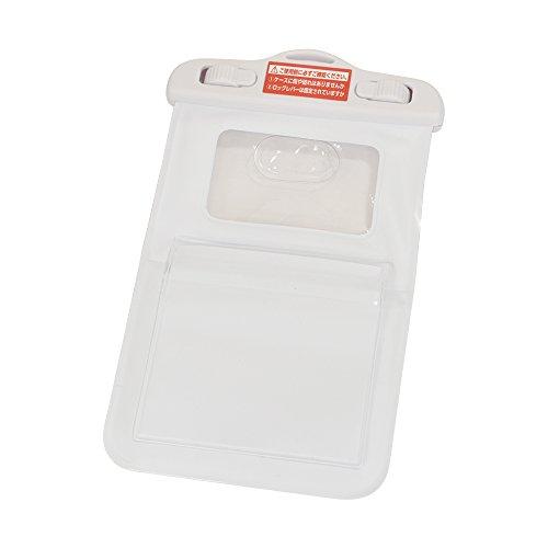 ラスタバナナスマートフォン用TouchID(指紋認証)対応防水ケースIPX8Mサイズ4.7インチ対応ホワイトポケット付カラビナ付RBCA193