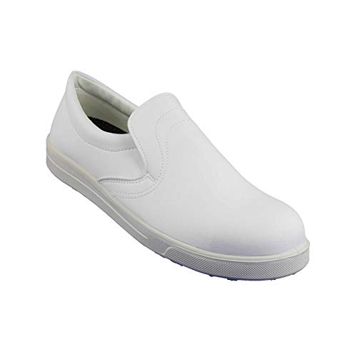 Sievi Alfa White S2 SRC Sicherheitsschuhe Laborschuhe Arztschuhe flach Weiß, Größe:46 EU