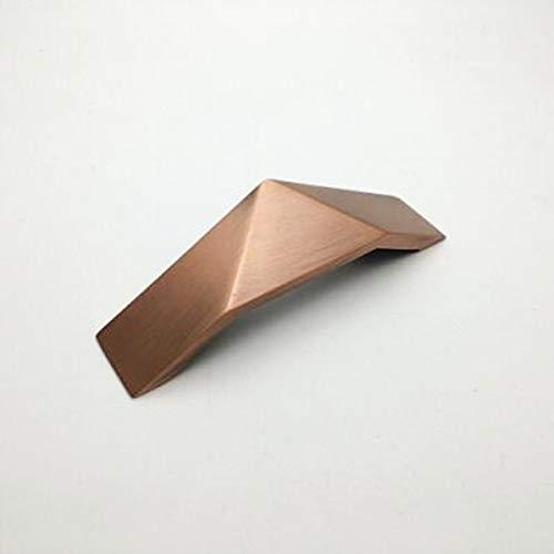 LYR Zinkloch zu Loch 32mm bis 192mm Legierungsschrank Handgriff Schwarzer Silber Antike Messingschubladenknopf-Red Bronze 64mm