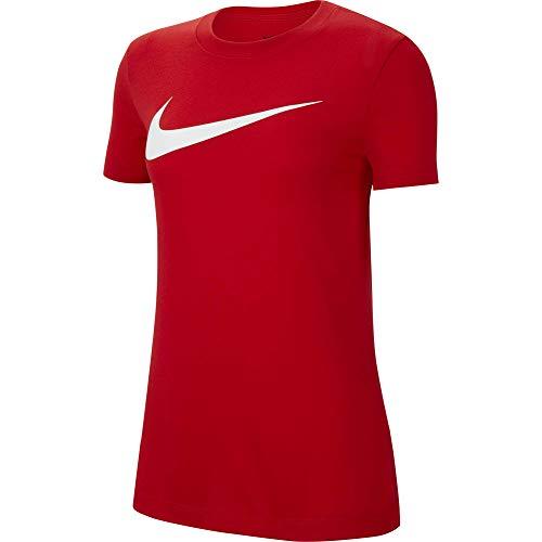 NIKE Camiseta para Mujer Team Club 20 tee, Mujer, Camiseta, CW6967-657, Rojo/Blanco, Small