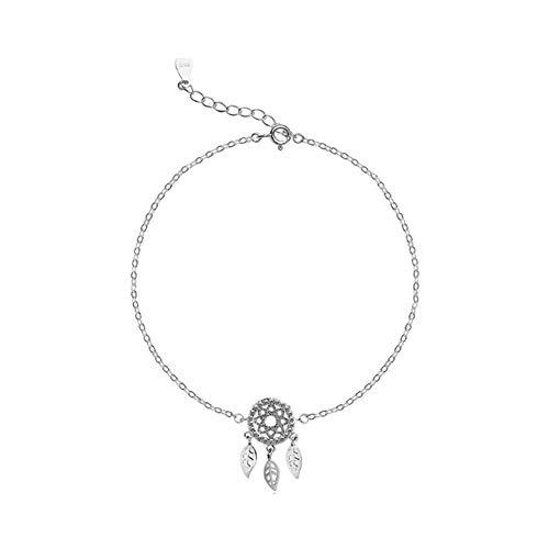 FGT Dream Catcher Anklet Sterling Silver Chain Bracelet Charm Anklets Birthday Gift for Women Girls