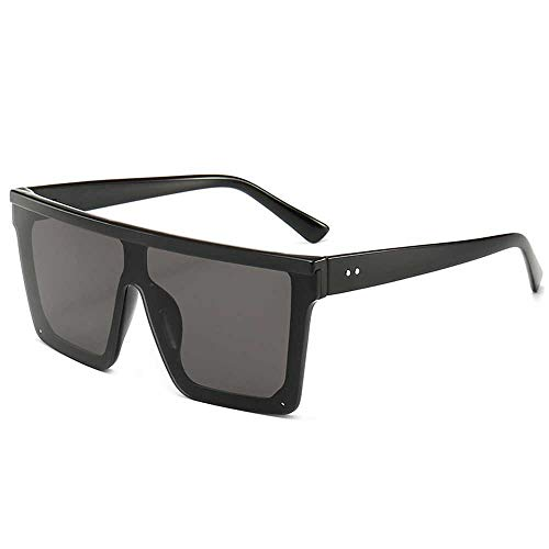 Nobrand Gafas de sol cuadradas de gran tamaño Hombres mujeres gafas de sol de lentejuelas planas de moda