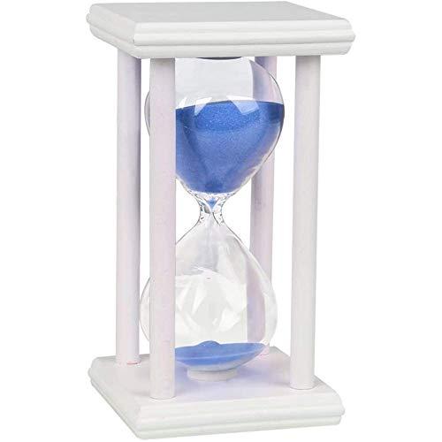 CHUTD Horloge de Sable de sablier, 5/30/60 Minutes minuteries de sablier à Cadre en Bois, pour la décoration de Bureau à Domicile, Les Jeux de Cuisine, Cadeau d'anniversaire de Noël (Sable Bleu BL