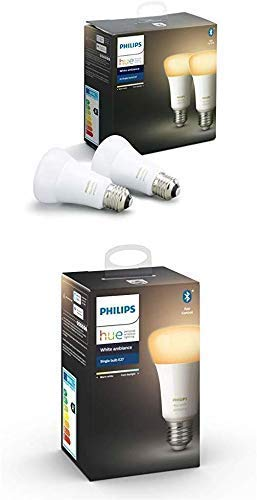 Philips Hue 3 Ampoules LED Connectée White Ambiance E27 Compatible Bluetooth, Fonctionne...