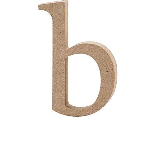 Lettre, h: 13 cm, épaisseur 2 cm, MDF, b, 1pièce