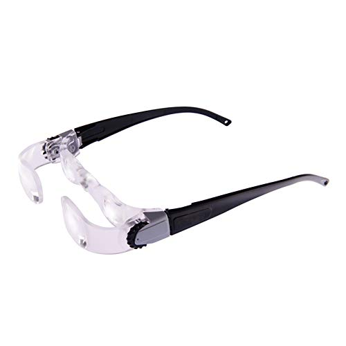 magnification glasses TV Magnifying Glass 2.1X Handsfree Binocular Glasses Reading Aid 0 to +300 Degree Adjustable Far-Sightedness Magnifier for Macular Degemeration,Birthday Christmas Gift for Seniors(for Hyperopia)