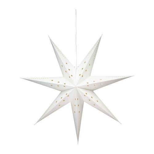 STRÅLA-Pendelleuchte Stern weiß, für Weihnachten/Weihnachten dieser festlichen Jahreszeit; ideal für die Weihnachtsdekoration Haus, Heim Geschenk für Julklapp.