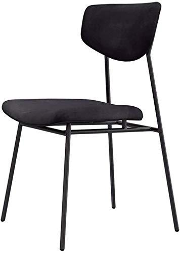 NYDZ cómodos taburetes de bar para niños adultos | Altura del asiento 45 cm | Sillas de comedor tapizadas con respaldo para cocina/pub | Taburete de bar de terciopelo negro