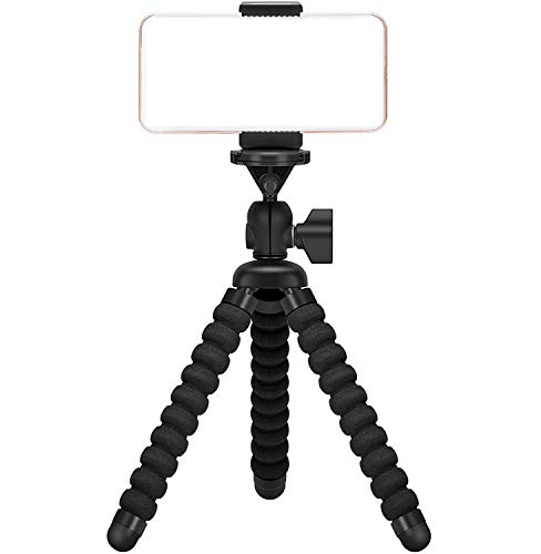 Ailun Digtal Camera Tripod Mount Stand Camera Holder for iPhone 12 12Pro/12Mini/12Pro Max/iPhone 11/11 Pro/11 Pro Max/X Xs XR Xs Max 8 7 Plus Digtal Camerara and More Black