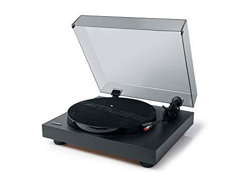Muse MT-105 B Schallplattenspieler mit Auto-Stopp-Funktion und 45RPM-Aufnahmeadapter, schwarz