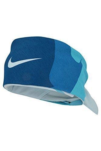 Nike, bandana unisex modello AC0339, di pregevole qualità, da usare come fascia per capelli, con logo Nike a forma di baffo