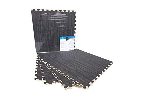 Alfombrillas De Espuma - 4 Pcs - Puzzle Suelo - 60x60cm (Imitacion Parque) (Gris)