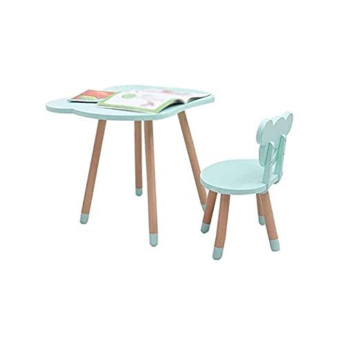 ZMHVOL Bdesign Mesa de Actividades de Madera, Mesa para niños y Silla para 1-5 años, niño pequeña Mesa/Mesa de niños/Mesa para niños pequeños/Mesa de Comedor de Madera/sillón para la Mesa de la Cena