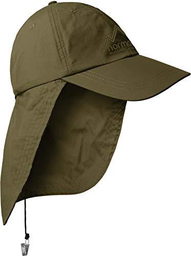 normani Safari Cap mit extra langem Nackenschutz mit UV-Schutz Farbe Oliv