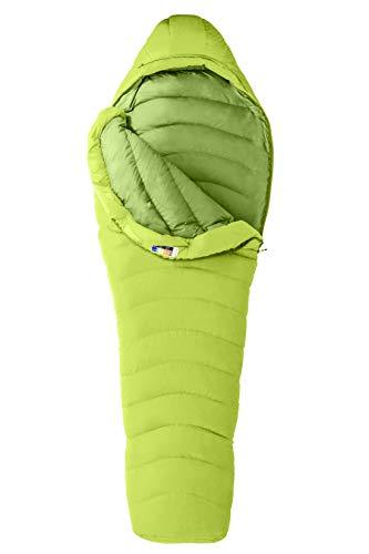 Marmot Hydrogen Daunenschlafsack, 800er Gänse-Daunenfüllung, sehr Leichter und Warmer Schlafsack, ideal zum Wandern und Backpacking, Vermouth/Alpine Green, Normal: 183 cm